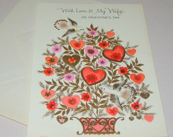 Vtg Valentine for Wife unused with card