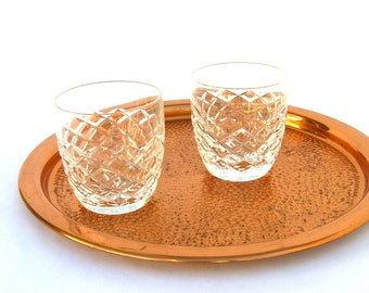 Vintage Coppercraft Copper Tray, Retro Bar Barware Decanters, Moscow Mules, Mid Century, Pebbled Hammered