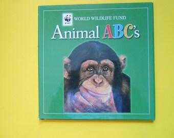 Animal ABC's, a Vintage Children's Alphabet Book, World Wildlife Fund