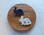 Grey Baby Bunny Brooch EASTER SALE