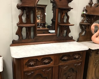 SALE, Walnut Victorian Sideboard, 1800's Dining Room Sideboard, Ornate Furniture, Entrance Hall, Foyer