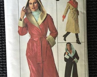 Simplicity 7700 Misses Jiffy Reversible Coat Sewing Pattern Large Size 16-18 UNCUT