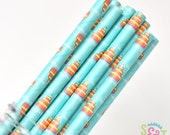 Birthday Cake Party Paper Straws - Cake Pop Sticks - Pixie Sticks - Qty 25