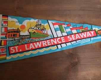 Vintage St. Lawrence Seaway Pennant Souvenir