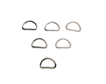 "3/4"" Metal D Rings - D Ring - Dog Collar Supplies - Unwelded D Ring - Wholesale Lanyard Supplies - Set of 6"