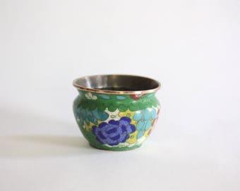 Round Vintage Cloisonne Vase