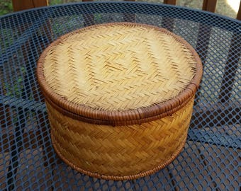 Woven Boho Storage Basket
