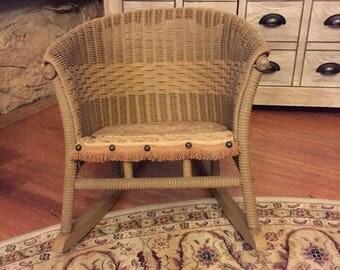 Victorian Child's Rocking Chair all Original