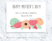 mothers day gift for grandma, mothers day card, grandma gifts, grandma download, digital downloads, nanny card, mothers day