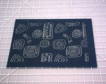 Polymer Clay Silk Screen | Doodles Silk Screen | Fun Doodles Silk Screen | Silk Screen for Clay | Silk Screen #4