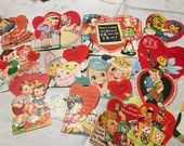Vintage Valentine Cards Fold-out Stand-up Die-cut Anthromorphic Candy Lot of 15  #32