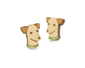 Greyhound, wippet, lurcher earrings ~ laser cut dog stud earrings