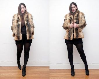 FREE SHIPPING Vintage Real Fox Fur AMAZING Fur Jacket Coat
