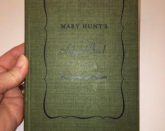Classic Mary Hunt Hunt's SALAD BOWL Cook Book 1942 hardcover Upcycle vintage Recipe Cookbook vintage planner