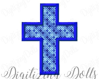 Cross Applique 3 Machine Embroidery Design 3x3 4x4 5x5 5x7 6x10 Church Easter INSTANT DOWNLOAD