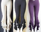 50% OFF Light Bamboo Ruffle pants with lace:  SAMPLE SALE various colours and sizes