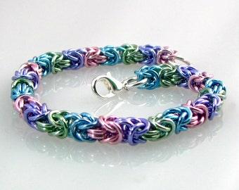 Pretty Pastel Braid Bracelet