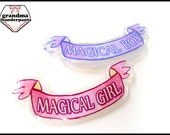 Magical Girl/Boy Pin, Mahou Shoujo, Magical, Sparkle Pin, GLITTER