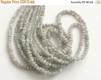ON SALE 55% Grey Rough Diamonds, 0.5mm Hole Size Natural Grey Raw Diamond Rondelle Beads, Uncut Diamond Beads, 3-4mm, 3.5 Inches Strand