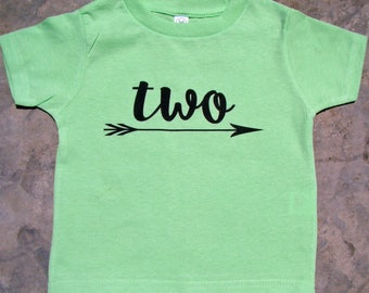 Two Birthday shirt, 2nd Birthday T-Shirt, Two arrow shirt, Birthday Shirt 2, Happy Second Birthday tee