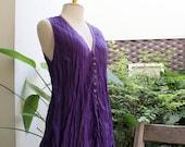 Comfy Roomy V Sleeveless Top - Purple