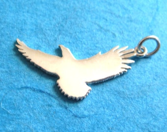 Sterling Silver  Soaring Eagle Stampable Pendant Charm