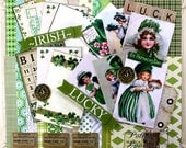 St Patrick's  Deluxe Creativity Kit 2017 Polly's Paper Studio Paper Embellishments Images Bows 69 Piece Kit