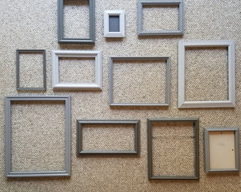 Gallery Frames in 3 Shades of Gray; Wall Decor; Wedding Decor; Instant Frame Collection