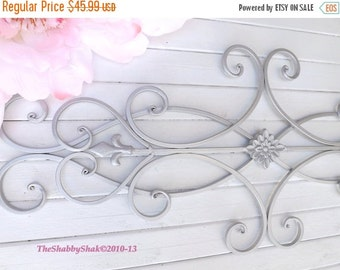MEGA SALE Wrought Iron Wall Decor / Indoor /Outdoor / Cottage Style / Fleur de Lis / Shabby Chic Decor / Bedroom Wall Decor / Kitchen Decor