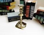 Virginia Metalcrafters Newport Candlestick, Brass Candleholder, Newport 3051, Traditional Decor, Library Decor, Hollywood Regency