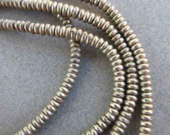 Old Silver Heishi Beads