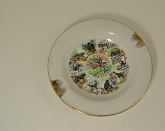 Cute Vintage Sea World Souvenir Plate