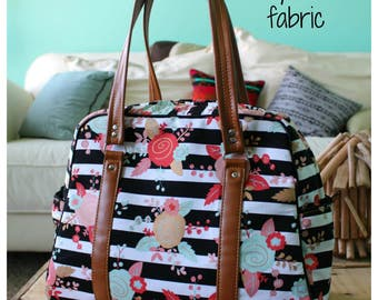 Pick your own fabric - Vivan bag - traveler - weekender bag - on the go bag - floral diaper bag - stripe diaper bag - diaper bag