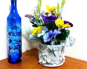 Silk Floral Arrangement/Floral Centerpiece/Artificial Flower Arrangement Decor/Spring Flower Arrangement/Mother's Day Gift