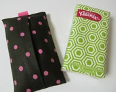 Tissue Case/Pink Dots On Black