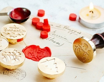 Christmas Wax Seal Stamp Dripping Wax Seal Stamp