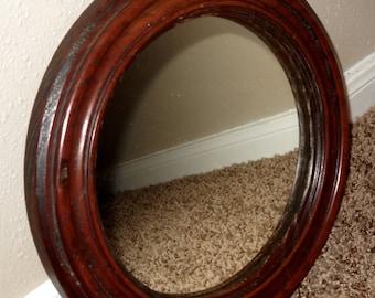 Round Wood Mirror  - Mirror - Home Decor - Round Mirror