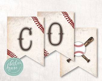 Baseball Concessions Printable Banner INSTANT DOWNLOAD by Beth Kruse Custom Creations