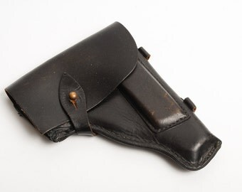 Vintage leather holster, gun holder for PM Makarov pistol, from Soviet Union, USSR