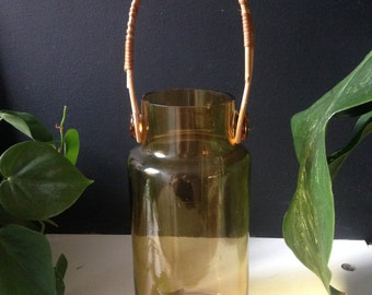 Amber Glass Vase by Takahashi