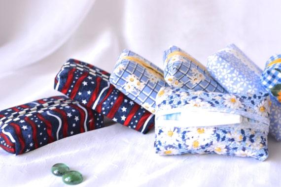 Party Favor Set of 10... Kleenex Pocket Tissue Holders, 10 Handmade Girl Birthday Party Favors, Easter Basket Filler, Office Gifts