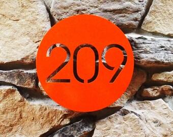 Minimalist Circle Custom House Number Sign