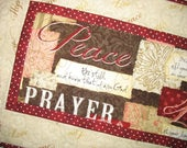 Easter Table Runner, Table Topper, Bible Verses, Christian, quilted table runner, fabric from Wilmington Prints