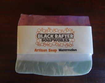 "Black Rafter SoapWorks ""Watermelon"" Artisan Soap"