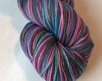 Polwarth wool and silk sport yarn, Quickly