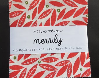 Moda - Merrily Charm Pack by Gingiber - 2017 Winter Fabric