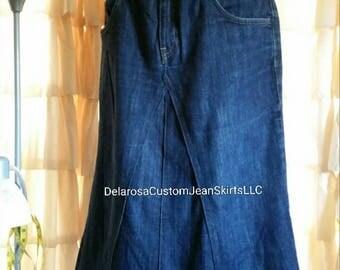 DELAROSA Ready to ship Maternity jean skirt size L 12/14