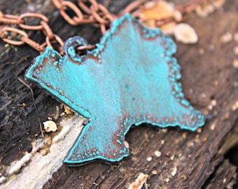 Texas Pendant Copper Necklace