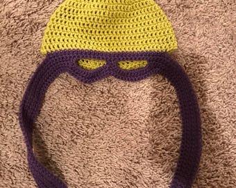 Ternage Mutant Ninja Turtle crocheted beanie