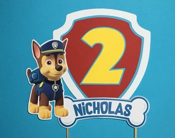 PAW PATROL Cake Topper for Birthday Party - Design 1